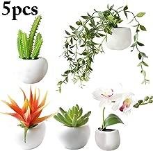 cache-pot magnets aimanté décoration plantes Cache Pot Magnétique Ø8cm Orange