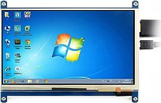 Waveshare 7 Inch 1024600 Capacitive Touch Screen LCD Display Hdmi Interface Custom Raspbian Angstrom Supports Various Systems for All Ver. Raspberry Pi Beaglebone Black Banana Pi Ro Video Photo Kit