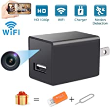 Mini USB Charger Spy Camera WiFi Hidden Camera Portable Full HD 1080P Wireless Small Indoor Home Security USB Charger Camera Nanny Cam with Motion Detection (Mini spy Hidden Camera USB Charger)