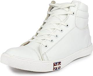 SBM Men's Genuine Leather White Boots