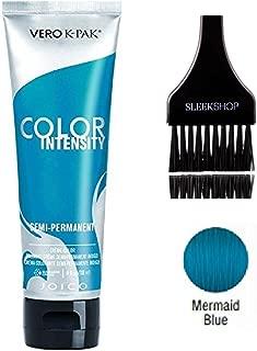 Joico Color Intensity Semi-Permanent Creme Hair Color (with Sleek Tint-Brush) (Mermaid Blue)