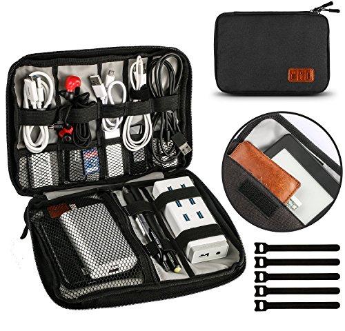 UNEEDE Kable Organizer Tasche Electronic Kabeltasche Zubehör Reisetasche Kable Aufbewahrung Klein Travel 9,4x6,6 Zoll -Schwarz