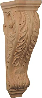 Ekena Millwork CORW07X08X22ACRO 6 1/2-Inch W x 8-Inch D x 22-Inch H Small Jumbo Acanthus Wood Corbel, Red Oak