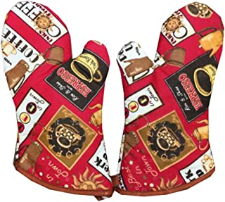Dragon Troops 1 Pair of Extra Long Professional Heat Resistant Potholder Gloves - Oven Mitt, B