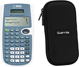 $29 » Texas Instruments TI-30XS Scientific Calculator + Guerrilla Zipper Case, for Extra Protection & Easy Storing …