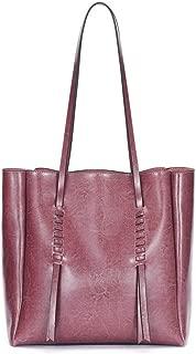 Leather Handbag Shoulder Bag Casual Handbag Multiple Colors Handbag Female Bag Handbags (Color : Purple)
