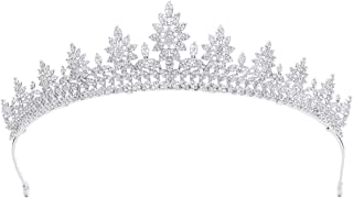 Classic Crystals Cubic Zirconia CZ Wedding Bridal Tiara Crown Diadem Women Hair Accessories CH10206