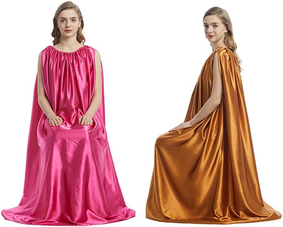 Sauna Steam Cloak CALIDAKA Yoni Steam Gown Women Steam Gown Artificial Silk Foldable Sleeveless Spa Tent Body Therapy Steam Generator Bath Robe Sauna Sweating Tool Spa Fumigation Bath Robe