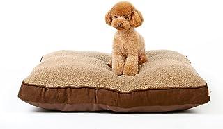 LDFN Perrera Cama Lavable Pequeño Invierno Cálido Bienvenida Gran Cómodo Nido De Mascotas,Brown-L90*W70*H12cm/35 * 28 * 5in