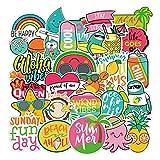 Cute VSCO Sticker for Water Bottle Laptop 44pcs Hawaii Style I Love Summer Sticker