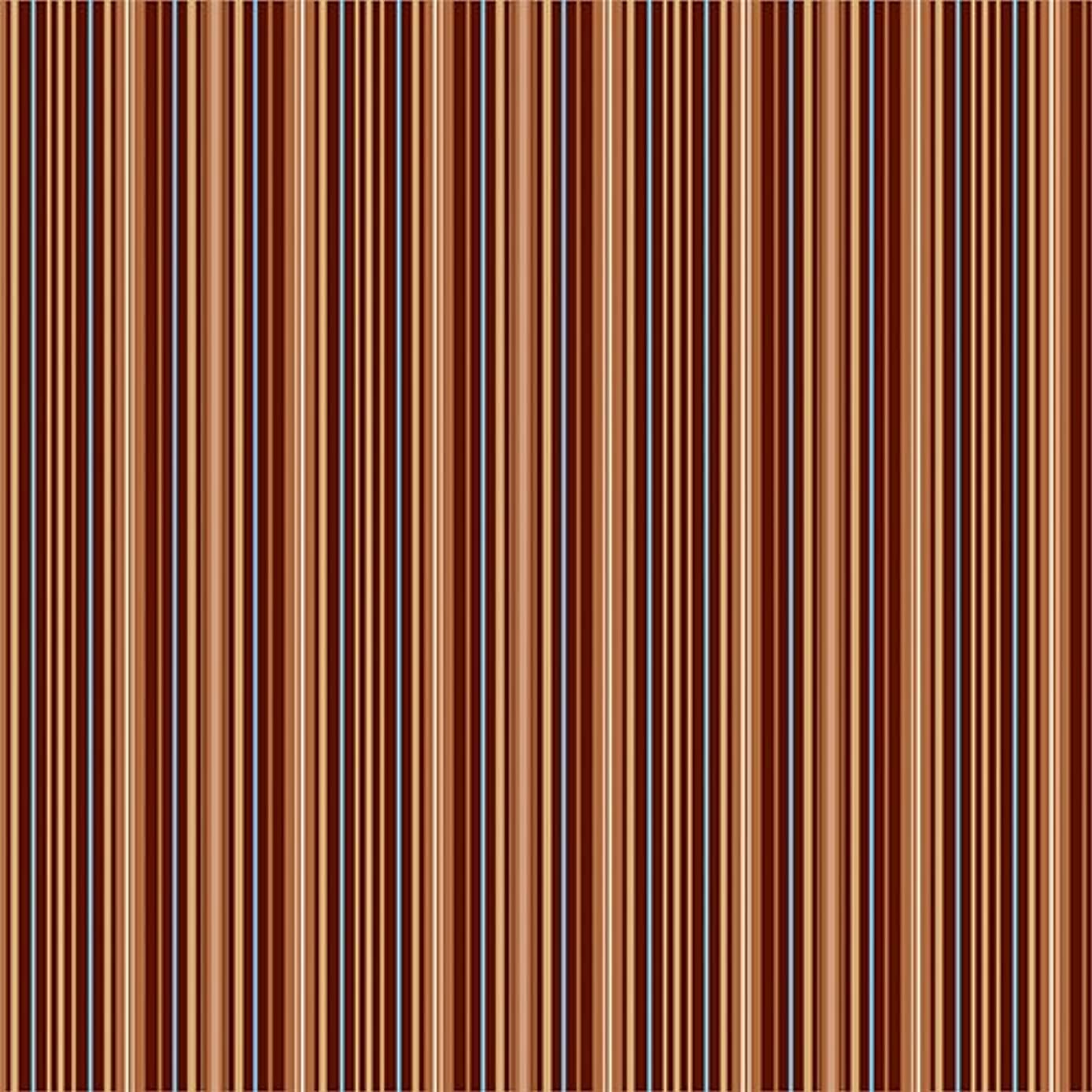 American Crafts 25 12 x 12 Inch Brown Fine Stripe Print Paper Pack by Die Cuts with a View Piece