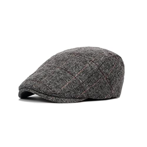 PitbullSyndicate Multicolored Plaid Patchwork Cotton Flat Cap Cabbie Hat Newsboy Ivy Cap