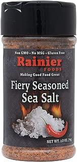 Rainier Foods Fiery Seasoned Sea Salt | Add the Flavor and Heat You Crave. Sugar Free, No MSG, Non GMO, Gluten Free
