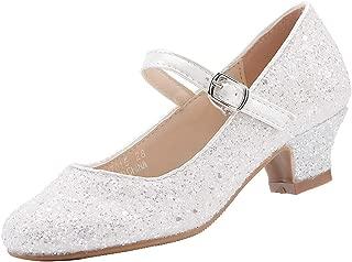 EIGHT KM EKM7015 Girls Mary Jane Low Heel Cinderella Court Shoes
