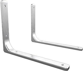Shelf Bracket,brackets For Shelves,2 Pcs Shelf Bracket Wall Shelf Bracket L Shape Right Angle Corner Bracket Metal Wall Su...