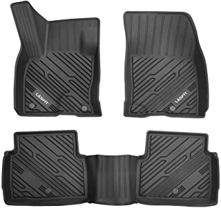 LASFIT Floor Mats Custom Fits for Ford Escape 2020 2021, All Weather Guard TPE Floor Liners for 1st & 2nd Row, Black Upgraded
