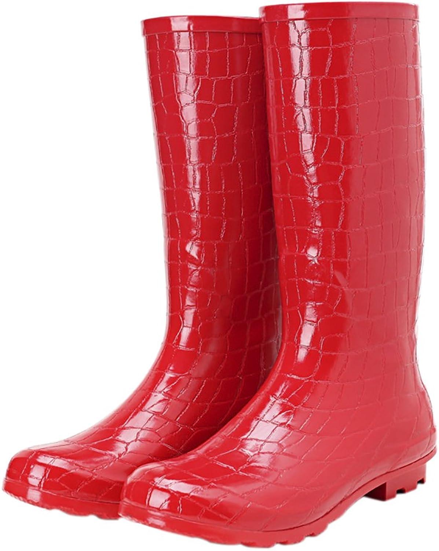 Women's Fashion Rubber Rain Boots Anti-slip Waterproof Rain shoes