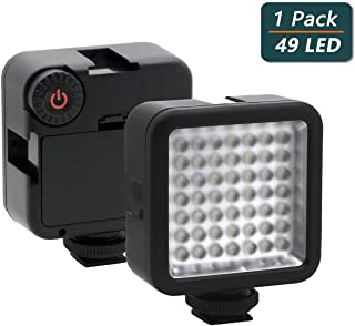 Ultra Bright LED Video Light,Elivern Perfect 49 Led Camera Lighting, Dimmable Portable Camera Light Panel,Mini Beauty light for Mobile Phones,Canon,Nikon,Sony and Other DLSR Cameras