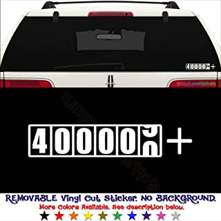 JDM Japanese 400,000 Miles Plus Mark Odometer REMOVABLE Vinyl Decal Sticker For Laptop Tablet Helmet Windows Wall Decor Car Truck Motorcycle - Size (5 Inch / 13 Cm Wide) - Color (Matte White)