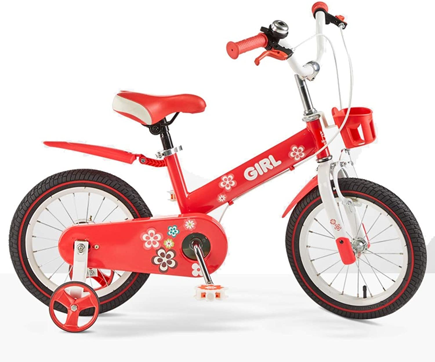 Freestyle Kid's Bike for Boys and Girls, 12 14 16 Inch with Training Wheels in Multiple colors (color   Pink, Size   16 inches)
