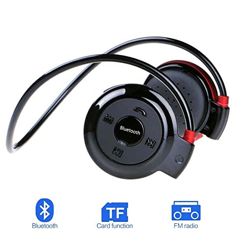 Jublun Bluetooth Headset, sport, casque sans fil Bluetooth 4.0casque stéréo avec micro, support carte TF (jusqu'à 32G), prise en charge de la fonction radio FM Écouteurs sans fil par