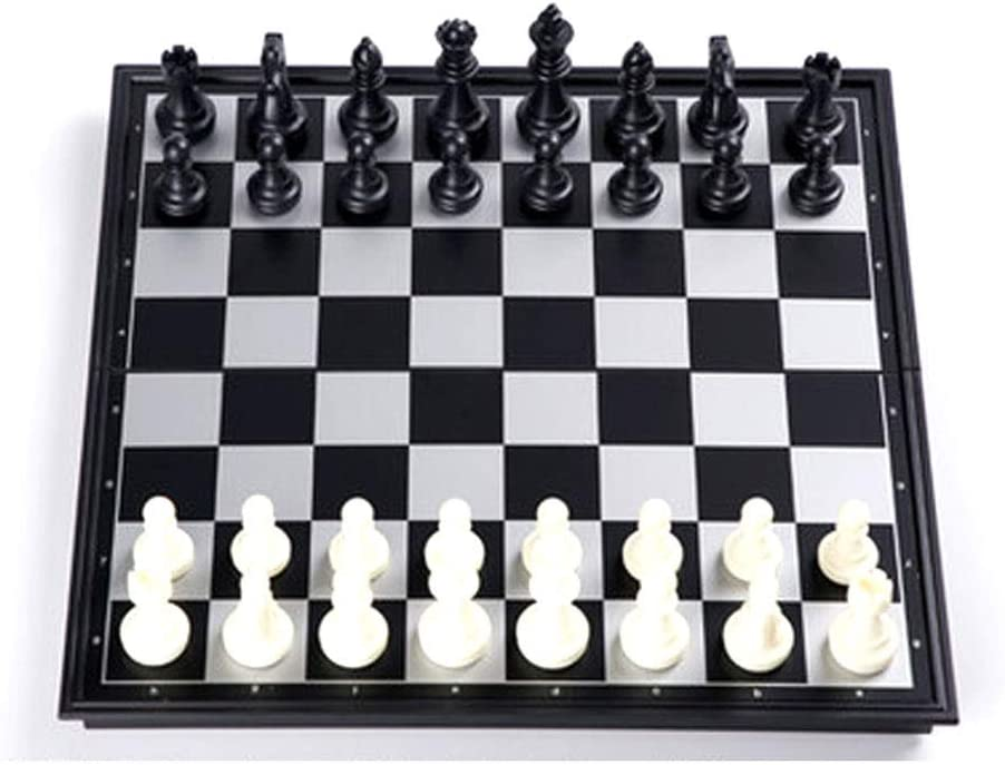 free shipping Chess Quantity limited Set Plastic Magnetic Board with Travel Tha