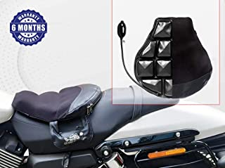 GrandPitstop Motorcycle Cushion Seat Air Comfy Seat Pads for Cruiser Touring with Pressure Relief Pad