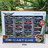 Redcolourful 1:64 Carbon Alloy Car Set Kinder Mini Auto Spielzeug Simulation Rennfahrzeug Modell Delicate 20 Stück -