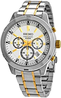 Seiko Sport Watch For Men Analog Stainless Steel Bicolor - SKS607P1