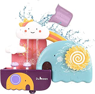 Baby Bath Toys, Bathtub Suction Cups Toy Waterfall Fill Spin and Flow Toy,Shower Gift for 1 2 3 Year Old Kids Toddlers(Ele...