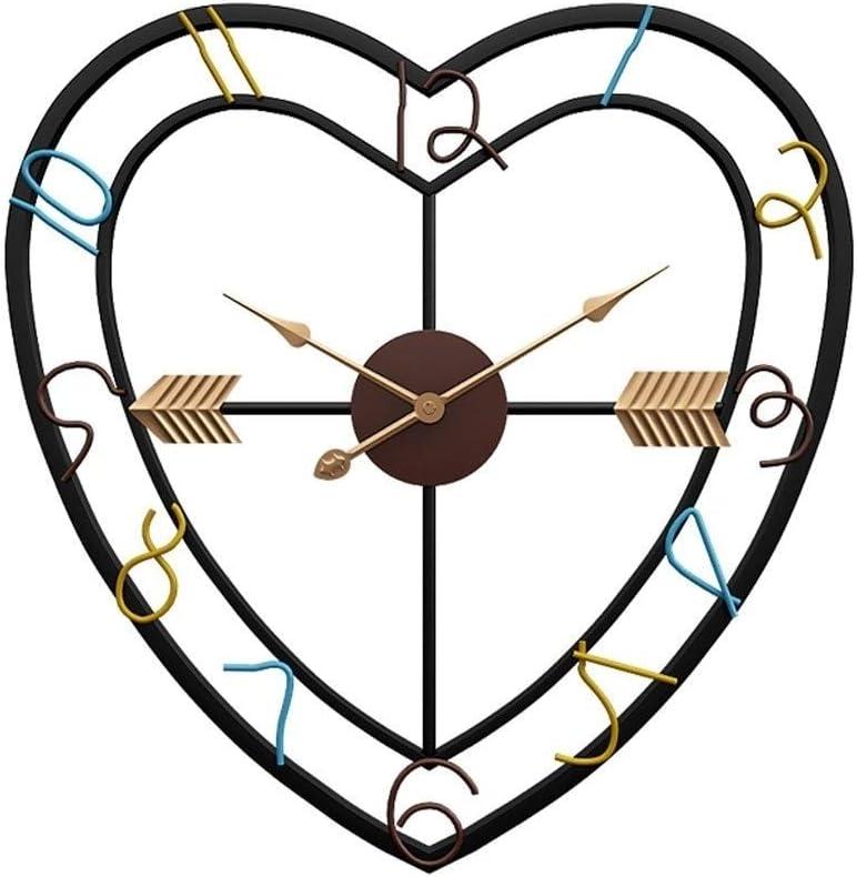 QIAOLI Ranking TOP12 Wall Clock Heart-Shaped Cloc Nordic Style Department store