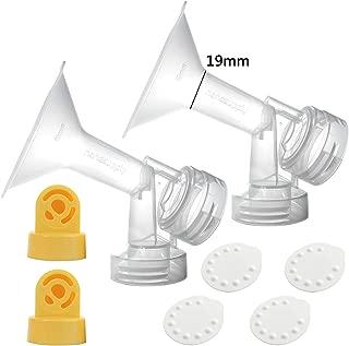 Nenesupply Compatible Pump Parts for Medela Breastpump Not Original Medela Pump Parts 19mm Breastshield Valve Membrane for Medela Pump in Style Medela Symphony Medela Swing Replace Medela Breastshield