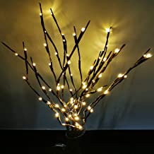 Aokely 4PACK Branch Lights LED Branches Decorative Light Battery Powered DIY Tree Willow Branches Lamp for Home Holiday Party Decor Warm White -30Inch 20LEDs
