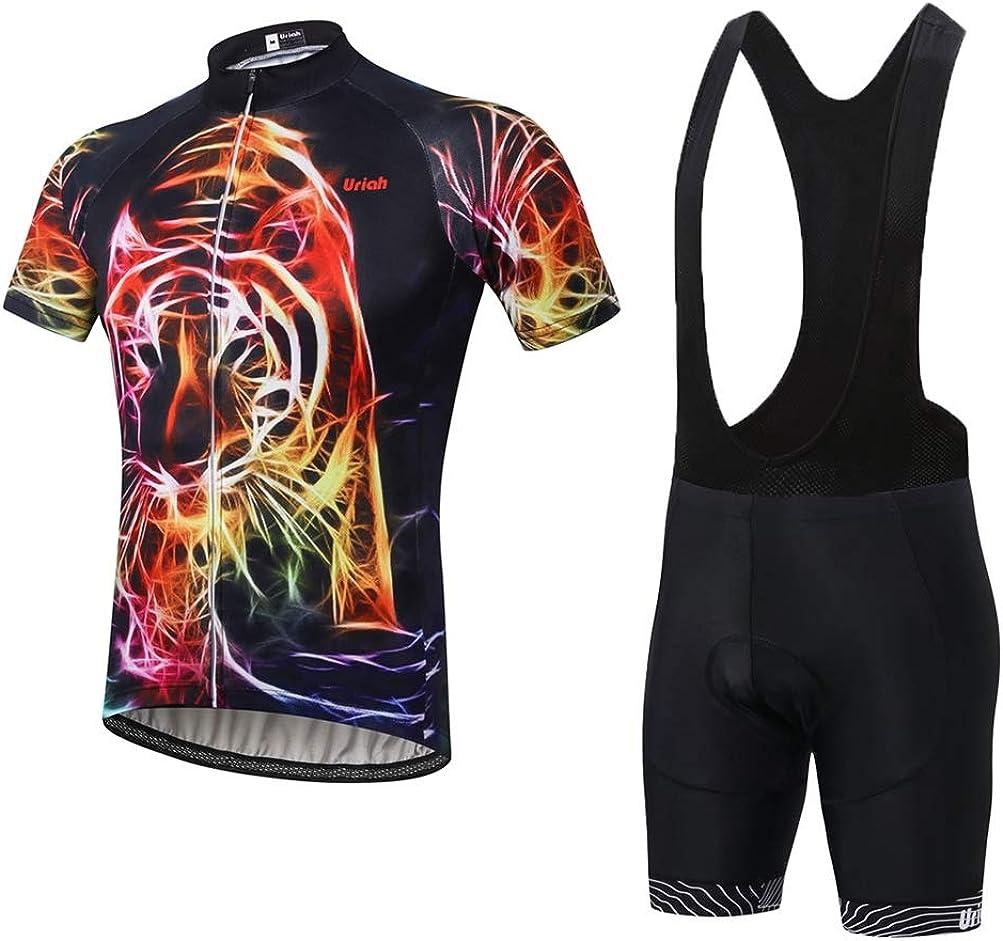 Uriah Men's Bicycle Jersey Bib Louisville-Jefferson County Mall Shorts Popular standard Black Short Swe Set Sleeve