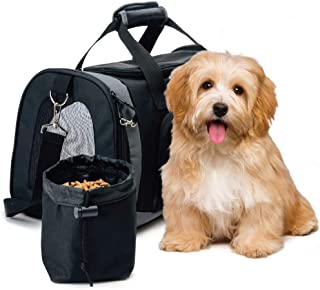 The Original GORILLA GRIP Pet Carrier Bag for Dogs or Cats, Free Travel Bowl, Locking Safety Zippers, Airline Approved, Up...