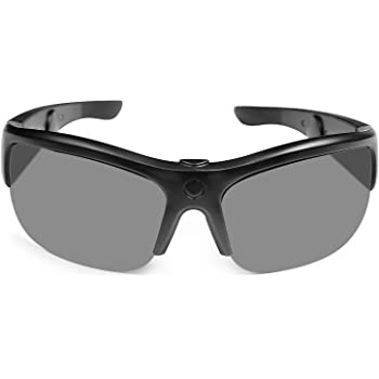 TJ Frames - Audio Sunglasses with Open Ear Headphones, Smart Sunglasses for Men Women Cycling Glasses UV400 Lightweight in Cycling, Fishing, Running, Driving, Golf - Black(Size 129mm Small)
