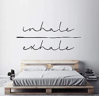 Inhale Exhale Art Typography Sticker Minimalist Art Spiritual Decal Bedroom Wall Sticker Wall Art Decal Yoga Studio Decor (18