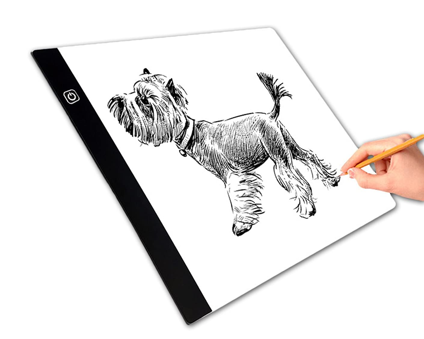Tracing Light Box,Portable LED Drawing Pad A4 Ultra-thin USB Adjustable Luminous for Artists,Drawing, Sketching, Animation