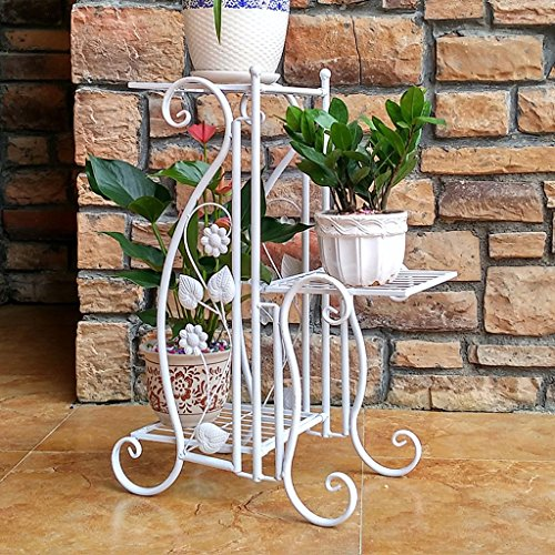 PLL Fer Art Fleur Stand Balcon Salon Plancher Multi-Couche Fleur Pot Rack Intérieur et Extérieur Multi-Fonction Flower Rack