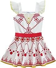Ainiel Girls Digital Printed Sleeveless Dance Dress Cosplay Costumes