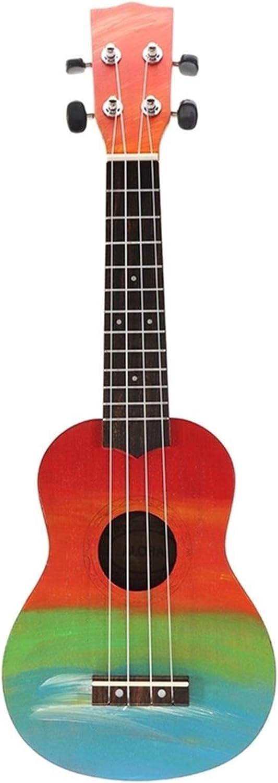 21 Pulgadas - Cuatro Cuerdas Cahogany Guitar String Instrument - Longitud 54 Cm - Adecuado Para La Música Joven-adulto Música Para Principiantes, Música Joven, Principiantes De Música Para Ad(Color:A)