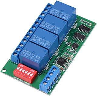 Delay Timer Switch Relay, DC 12V 4-Channel RS485 Delay Timer Switch Relay at Command Remote Control