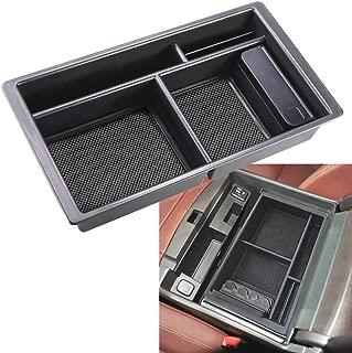 ZOIBV Car Center Console Organizer Tray,Armrest Box Secondary Storage Interior Insert ABS Black Sundries Container for GMC Sierra Yukon Chevy/Chevrolet Tahoe Suburban Silverado 2015-2018 Accessories
