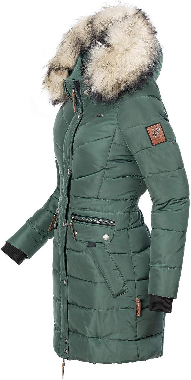 Navahoo Paula Cappotto Trapuntato Invernale da Donna Lungo con Grande 12 Colori XS-XXL