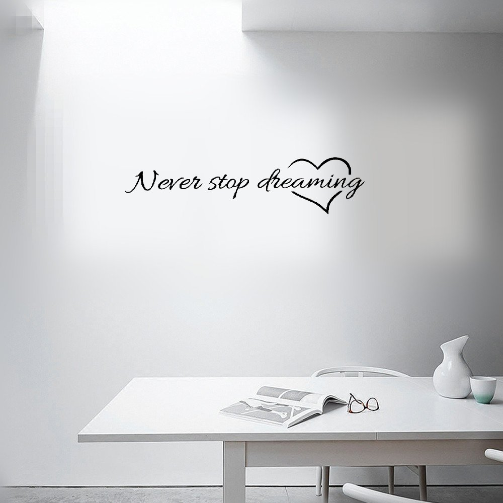 Wall Sticker Quotes English Letter Quotes Wall Stickers Removable Wall Decal Wall Mural Decoration Wall Stickers For Bedroom Living Room Office Buy Online In Moldova At Moldova Desertcart Com Productid 196459806