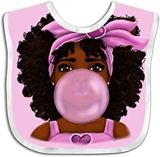 Black Woman With Afro Baby Bibs For Trottie,Cute Designs For Your Baby