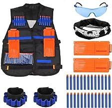 TIMESETL 37 Piezas Chaleco Táctico para Niños Juguetes de Armas y Proyectiles para Nerf N-Strike Regalo para Niños de Compleaño/ Navidad