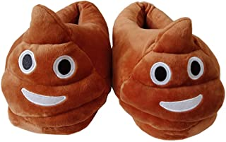 Poop Emoji Slippers Unisex Anti-Slip Indoor Warm Cute Winter Slippers Plush Fluffy House Shoes Cartoon Slippers Free Size
