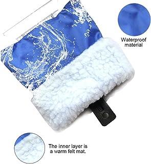 QLF Younker Eiskratzer Mit Handschuh,Windschutzscheibenschaber,Windschutzscheiben schneekratzer Mit Wasserdichtem,Schneeentferner handschuh Mit Dickem Fleece Gefüttert