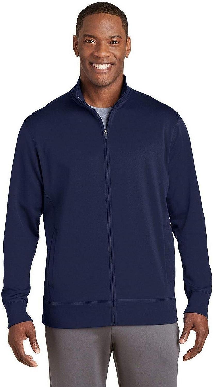 Sport-Tek Sport-Wick Fleece Full-Zip Jacket ST241 Navy XS